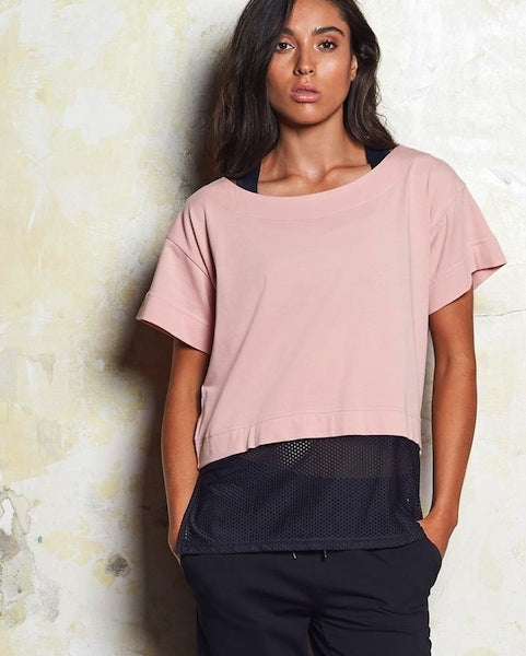 Bec Luxe Mesh Panel Tee - 2 Colours