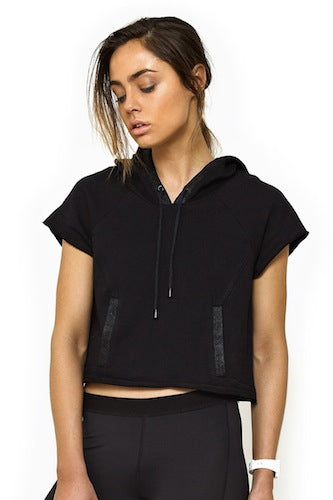 This Is First Base Put Your Back Into It Cropped Hoodie