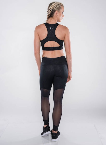 TLF Gizmo Sports Tights - Black Embossed