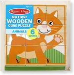 Melissa & Doug My First Wooden Cube Puzzle - Animals