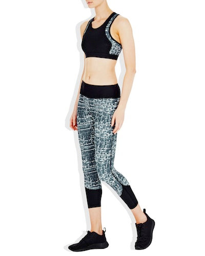 Vie Active Chelsea 3/4 Compression Tights - Rainfall