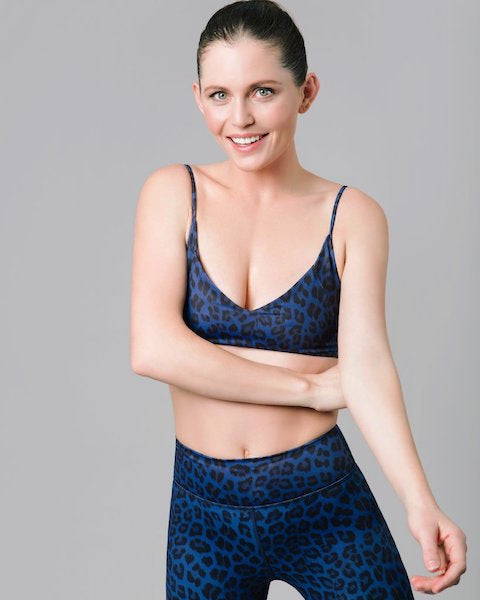 Vie Active Mia Sports Bralette - Navy Leopard