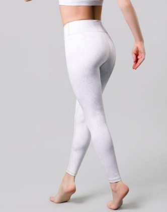 Vie Active Rockell 7/8 Compression Tights - Sand Python