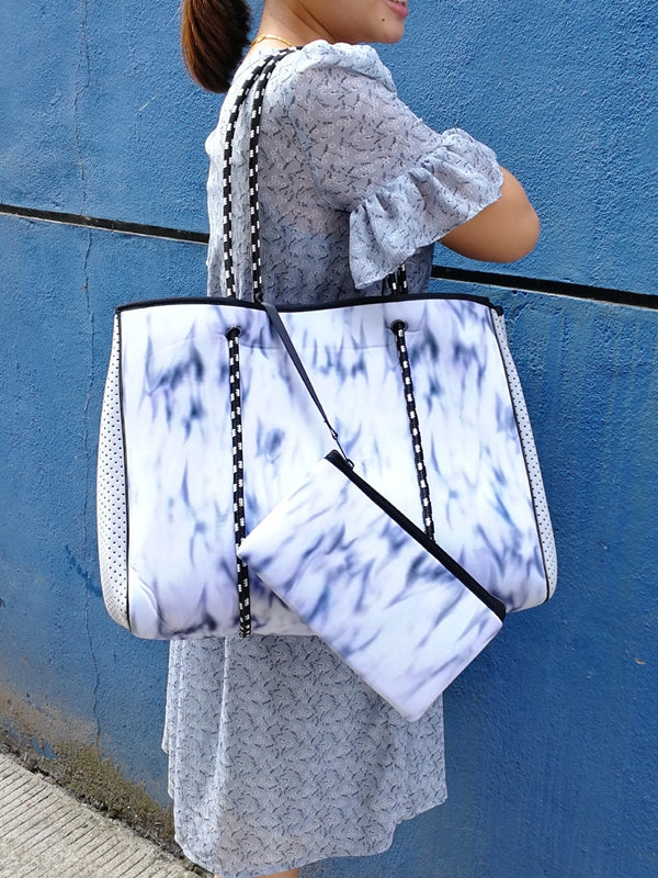 SIX30 Marble Neoprene Tote Bag