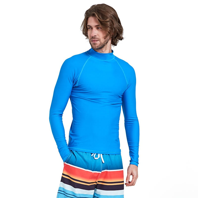 518bb9280 Sbart Men's UPF 50+ Long Sleeve Rashguard Swim Shirt Rash Guards Tops UV  Sun Protection