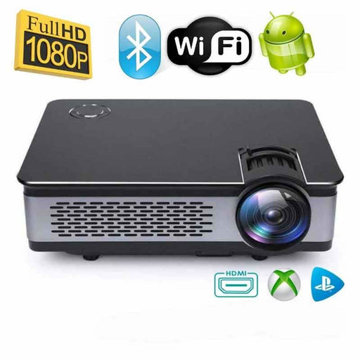 Wzatco Ct580 1080P Hd Gaming Projector - Black