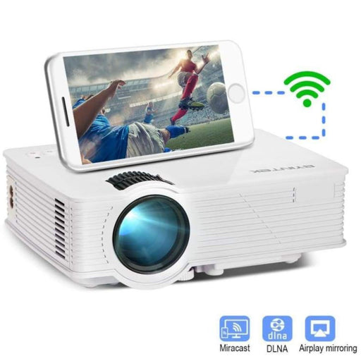 Byintek Mini Led Projector Hd Home Theater Wireless Push Multi-Screen Airplay Mircast For Iphone Smartphone