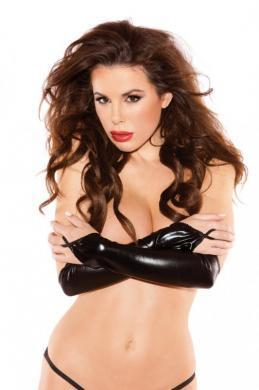 Sexy Siren Gloves Black O-S