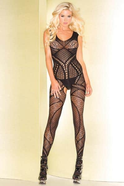 Be Wicked 80 Body Stocking O-S Black
