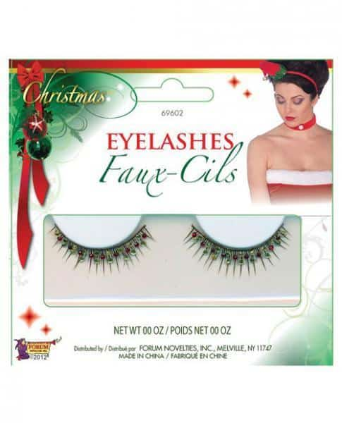 Christmas eyelashes #1