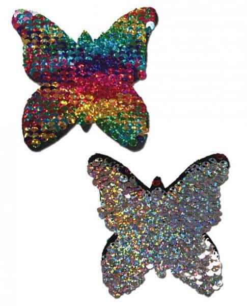Pastease Color Changing Flip Sequins Butterfly Rainbow O-S