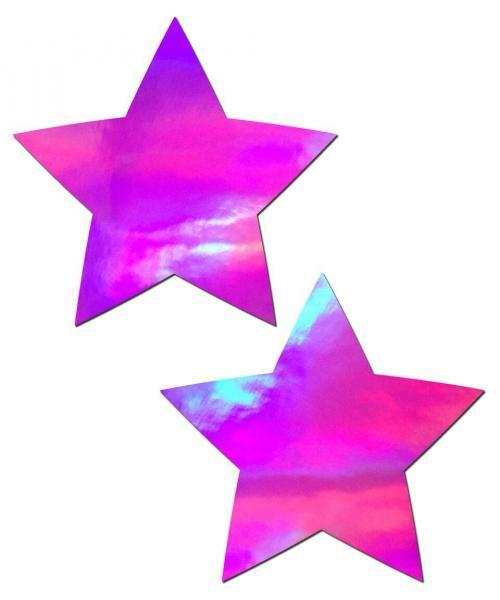 Pastease Holographic Star Pink Pasties O-S