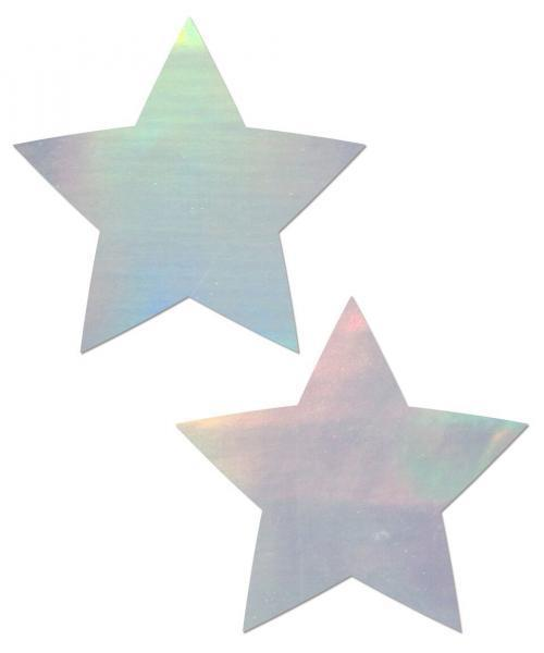 Pastease Holographic Star Silver Pasties O-S