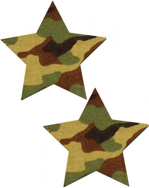 Pastease Camo Star Pasties O-S