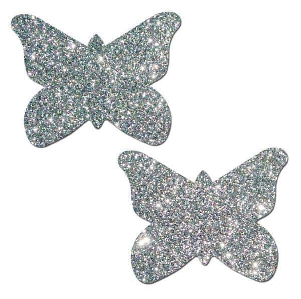 Pastease Silver Glitter Butterfly O-S
