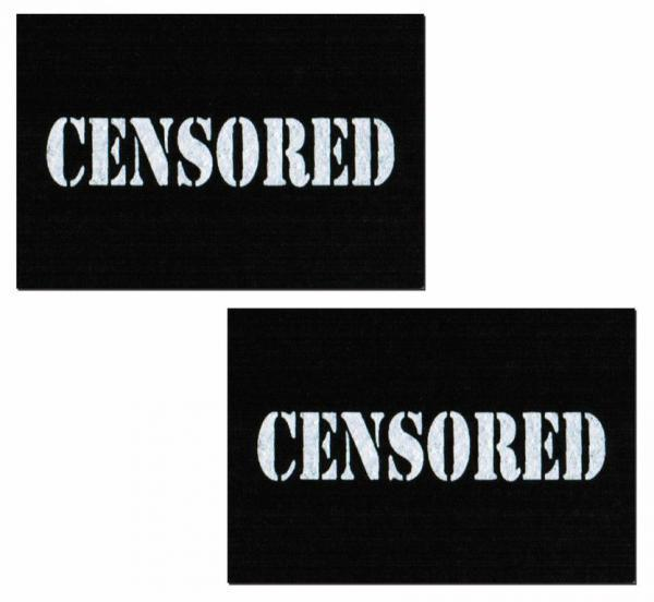 Censored Bar Black Pasties O-S