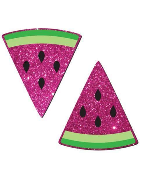 Hot Pink Glittering Watermelon Slices Pasties