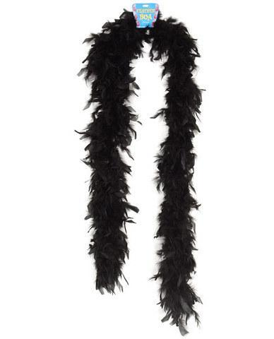 Feather boa 72in - black
