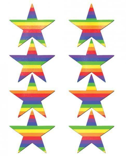 Pastease Mini Rainbow Stars Pack Of 8 O-S