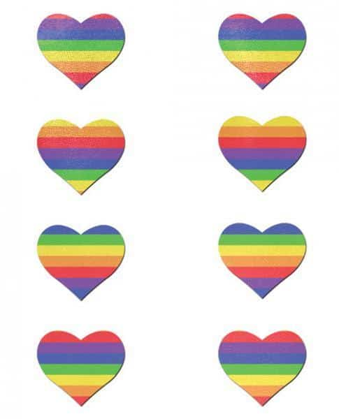 Pastease Mini Rainbow Heart Pack Of 8 O-S