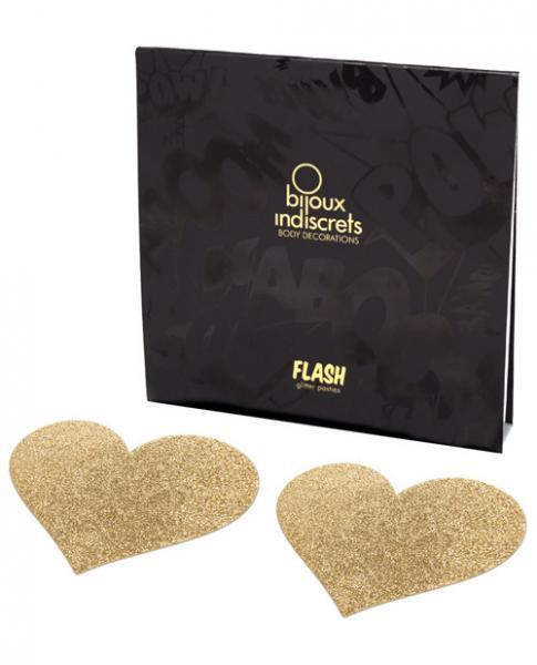Bijoux Indiscrets Flash Heart Pasties Gold