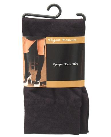 Opaque knee hi black o-s