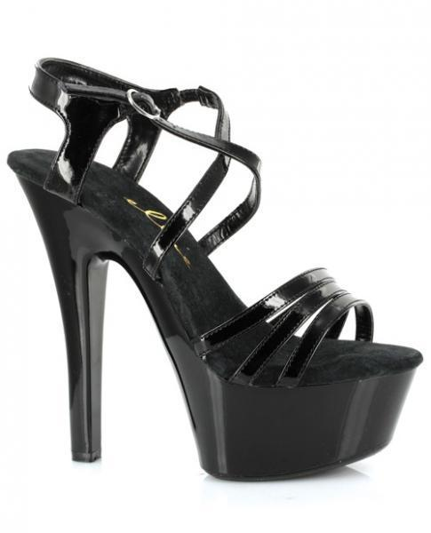 Ellie shoes dreamer 6in stiletto w-2in platform black nine