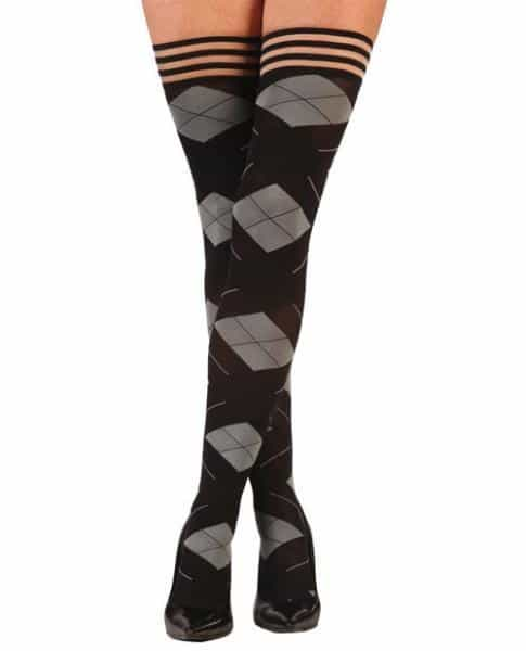 Kixies Kimmie Argyle Thigh High Tights Argyle C