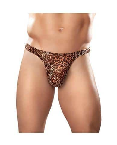 Male power wonder thong animal print s-m