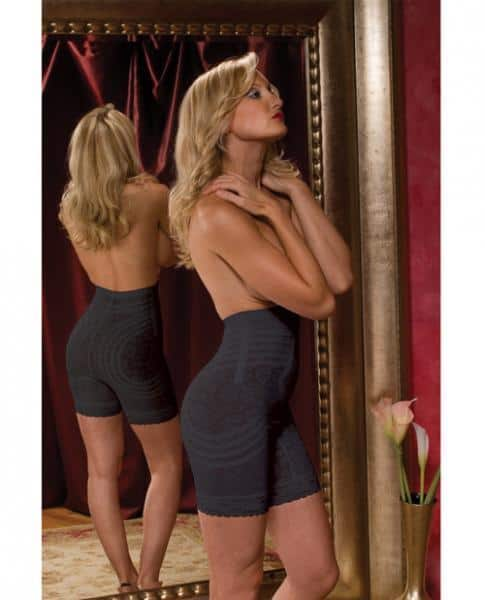 High Waist Long Leg Body Shaper Black Large