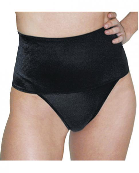 Rago Shapewear Wide Band Thong Shaper Black Md