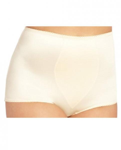 Rago Shapewear Rear Shaper Panty Brief Contour Pads Beige 2X