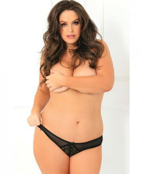 Miss Behavior Crotchless Panty Black 3X-4X
