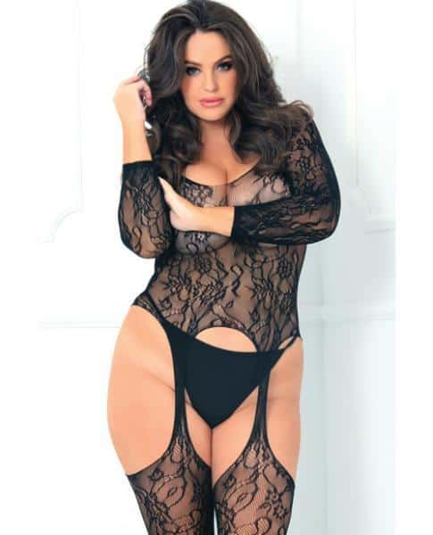 Rene Rofe Seductive Bodystocking Black One Size Queen