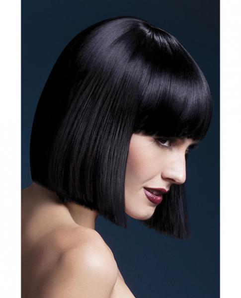Smiffy Fever Wig Lola Black Blunt Cut Bob 12 inches Long