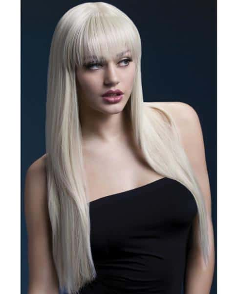 Smiffy Fever Wig Jessica Blonde 26 inches Long with Bangs