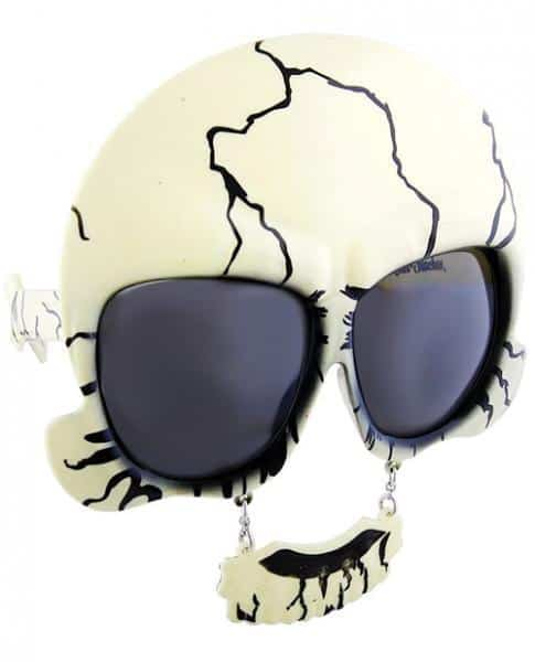Sun Staches Skull Sunglasses