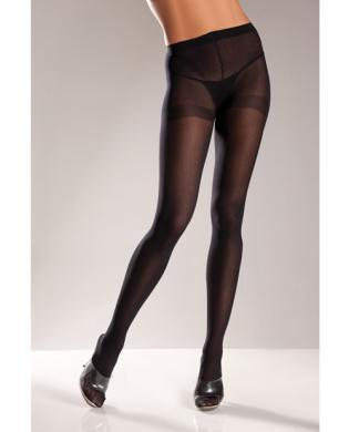Opaque Nylon Pantyhose Black Queen
