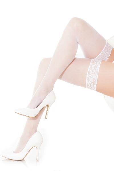 Sheer Stocking White O-S