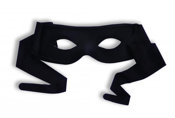 Masked Man with Ties Black O-S