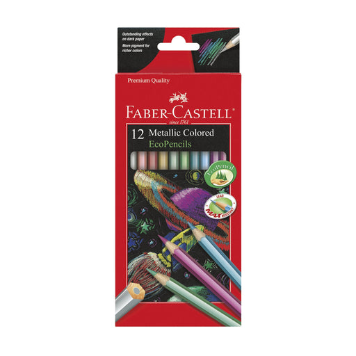 12 Metallic Colored Ecopencils - JKA Toys