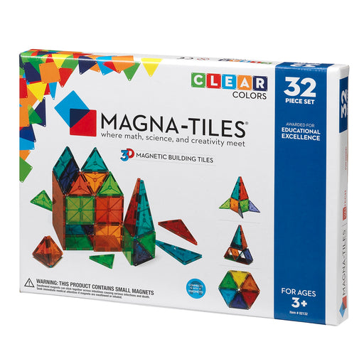 Magna-Tiles Clear 32 Piece - JKA Toys
