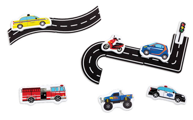 Traffic Fun Bath Stickers - JKA Toys