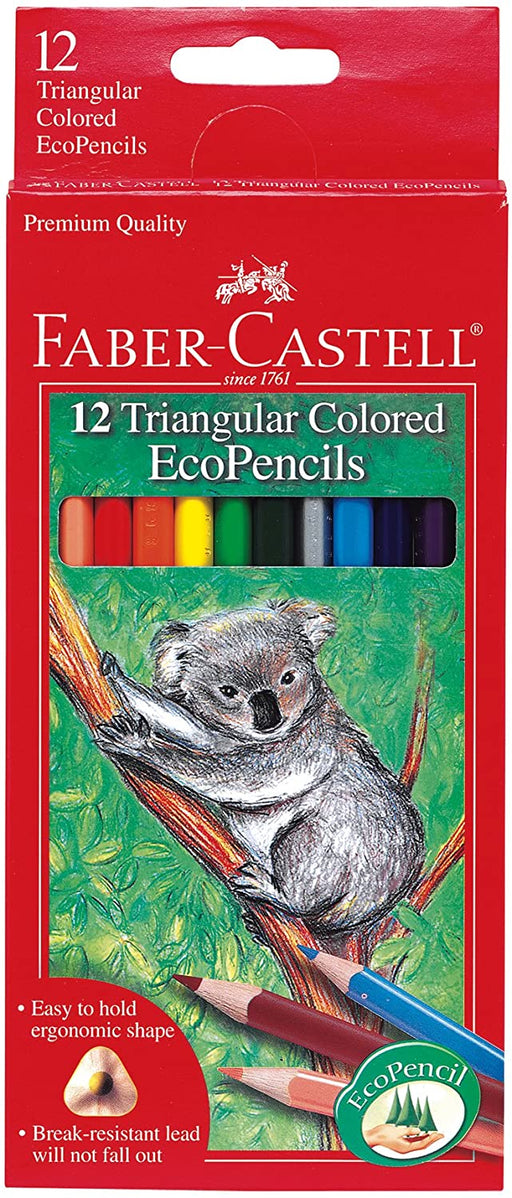 12 Triangular Colored EcoPencils - JKA Toys