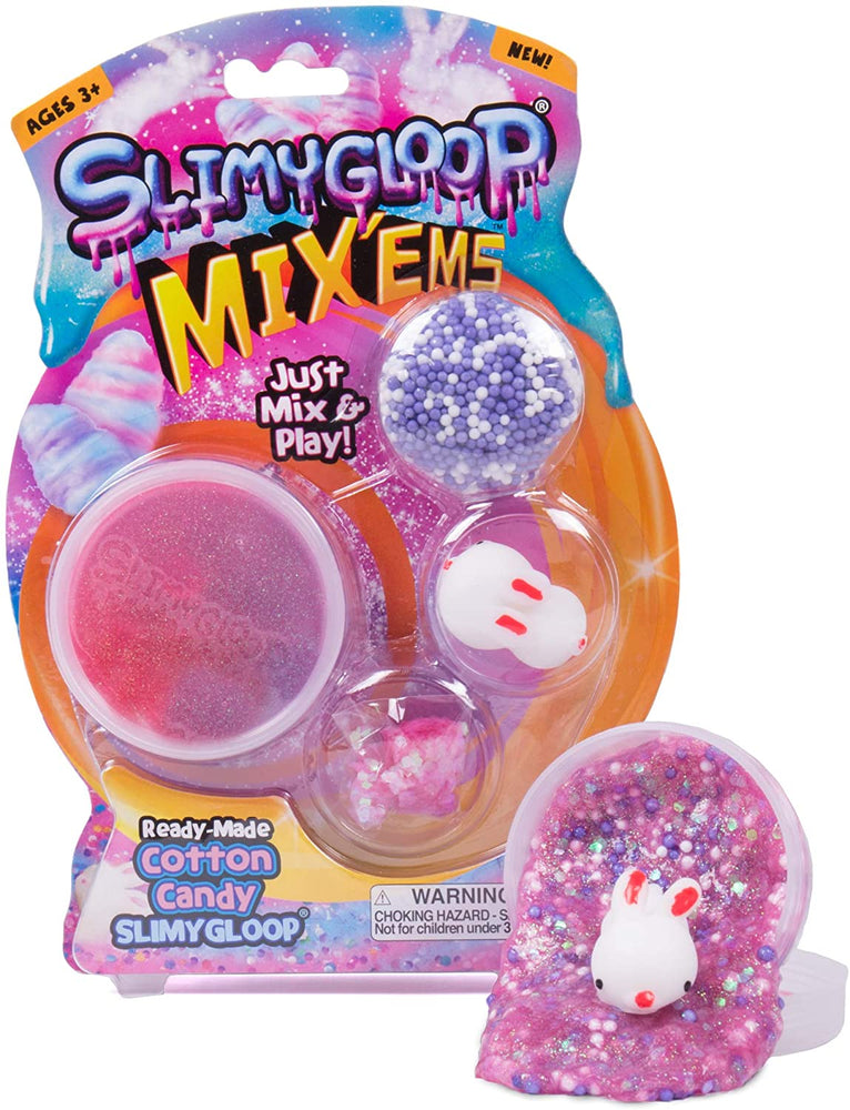 SlimyGloop Mix'Ems Cotton Candy - JKA Toys