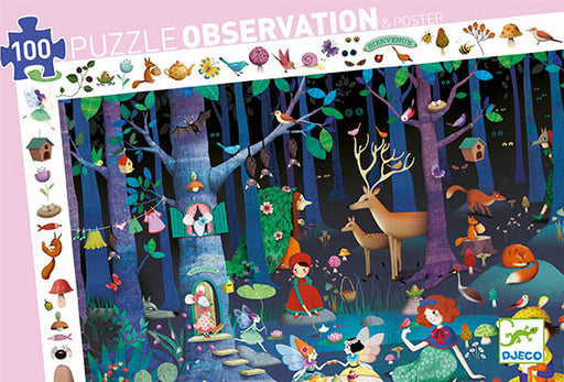 100 Piece Enchanted Forest Observation Puzzle - JKA Toys
