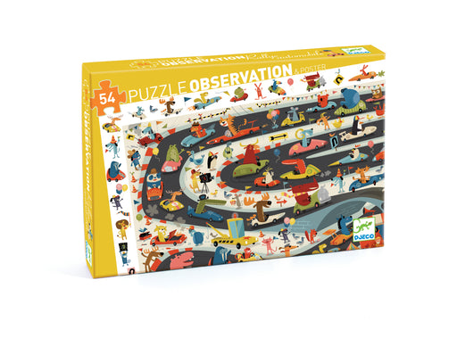 54 Piece Automobile Rally Observation Puzzle - JKA Toys