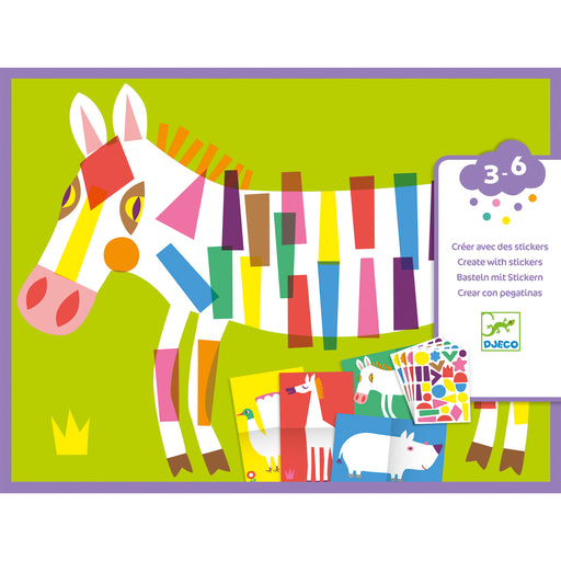 Create With Stickers Large Animals - JKA Toys