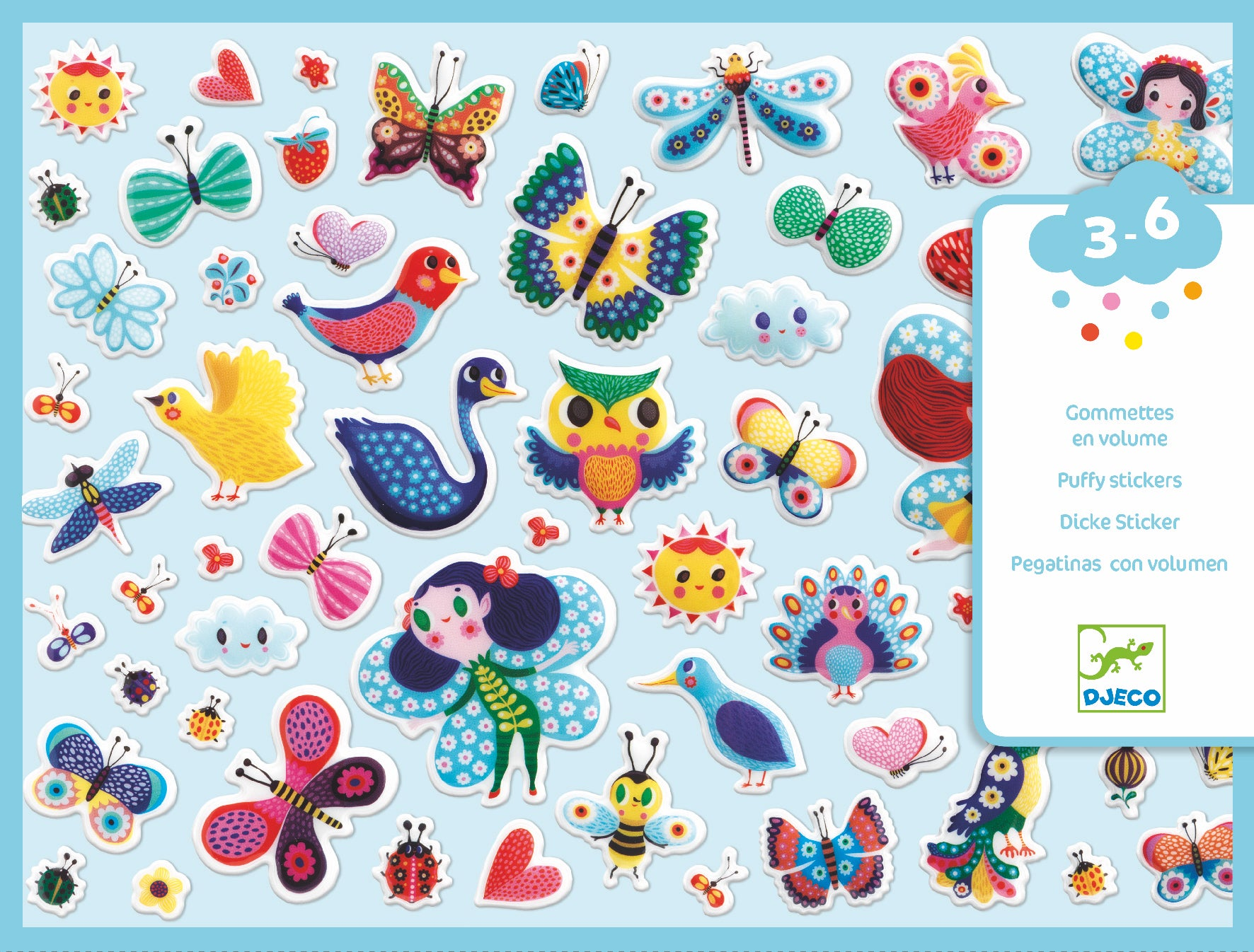 Little Wings Puffy Stickers - JKA Toys