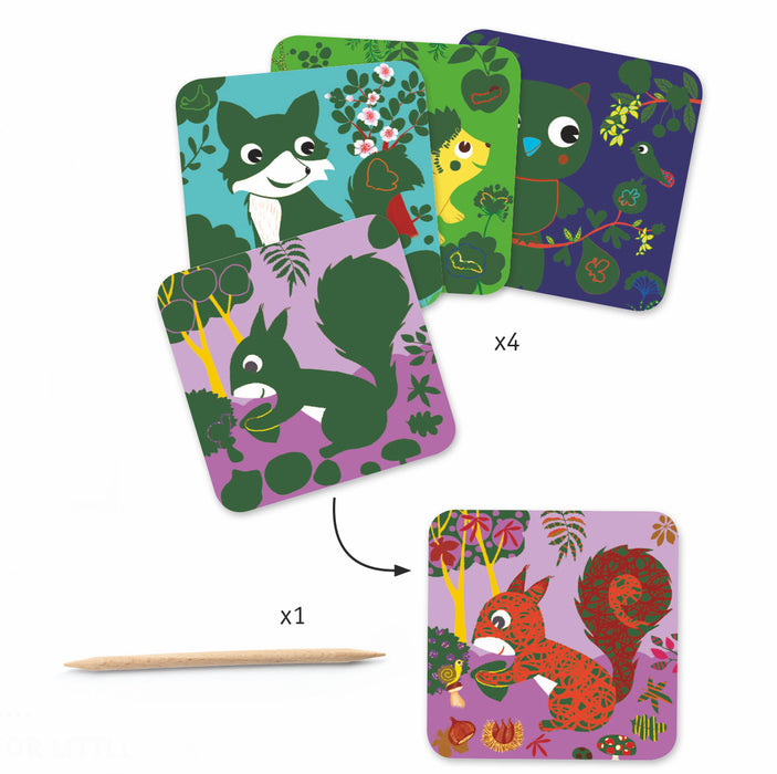 Country Creatures Scratch Card - JKA Toys